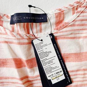 Marks & Spencer Tops - 3 FOR $15 MARKS & SPENCER Stripe Tie Front Blouse